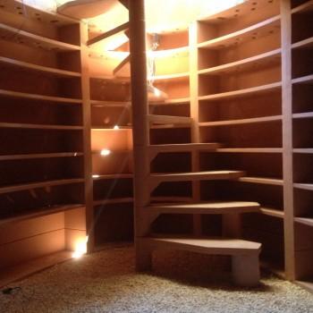Instalación de Cava Subterránea para almacenamiento de vinos.